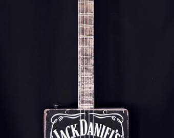 License Plate Guitar 'Black Whiskey'