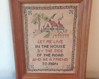 """Vintage 1930's """"Let Me Live in a House"""" Sampler"""