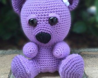 Stuffed teddy bear-Plush bear-crochet toys-crochet bear-plushies-stuffed toys