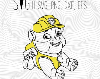 Paw Patrol SVG Files, Paw Patrol Printable, Paw Patrol Clipart Vector Transfer Files For Tshirt, Clipart Png Dxf Eps Iron On Transfer