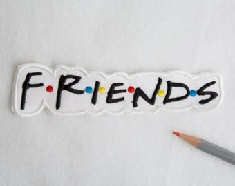 Friends patch Friends logo patch Retro patch Iron on patch 90s patches Bag patch Embroidered patch Mini patch Large patch FRIENDS EDP031