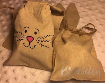 Easter Bunny Bag, Easter Bunny, Easter Basket, Easter Favor Bag, Favor Bag, Easter Bag, Bunny Bag, Bunny Burlap Bag, Burlap Bunny, Easter