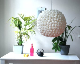 Hanging paper lamp/lighting handmade/white paper lamp/Japanese lamp « White Truffle».