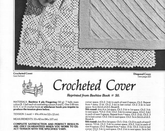 Vintage knitting and crochet pattern for 4 baby afghans/covers/blankets, instant digital download