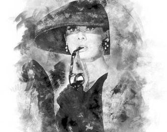 Audrey Hepburn, Breakfast at Tiffany's 11x14 Poster Print Wall Art