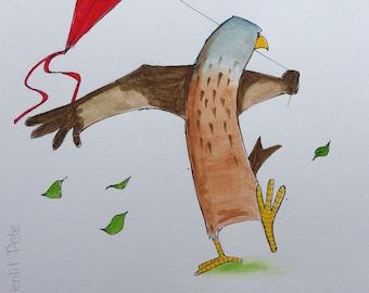 Red Kite - Silly Bird series