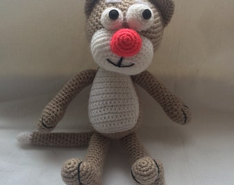Crochet Amigurumi Handmade Stuffed toy - Oliver the beige cat