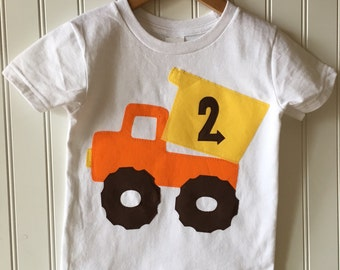 Construction 2nd birthday shirt. Completely customizable. Dump truck birthday shirt. Work Zone party. Second, third, truck, cone, work truck