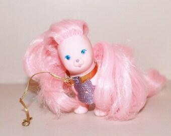 Frivoline dog, Lovely Lady Locks' doll, vintage doll, kids gifts, lovely lady locks dog, frivoline, pink dog