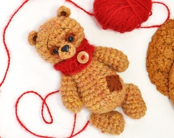 Knitted bear Brown toy bear Knitted teddy bear Toy bear Crochet bear Teddy bears for sale Knitted teddy  Knitted Toy