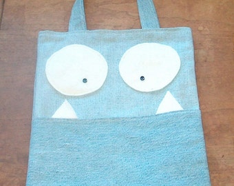 Monster Book Bag/ Tote