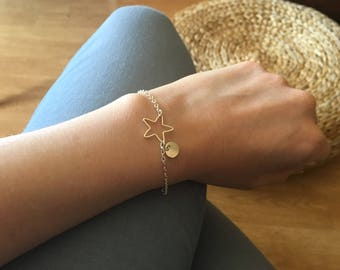 Plated chain Silver - Star charm bracelet