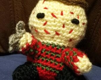 """Crochet 5"""" Freddy Krueger Inspired Doll"""
