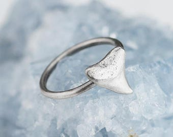 Sterling Silver Shark Tooth Ring Solid .925 Shark Rings Custom Sizes