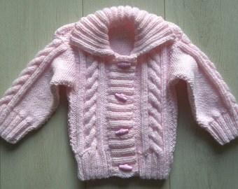 Baby Pink Baby Cardigan