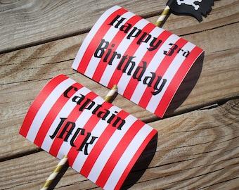 Pirate Birthday Cake Topper, Pirate Ship Cake Topper, Ship Mast Cake Topper
