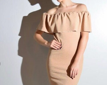 Handmade off shoulder dresses for womens One Size