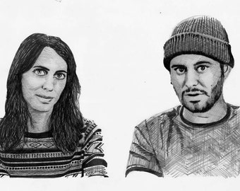 Ethan and Hila (H3H3) Realism Drawing