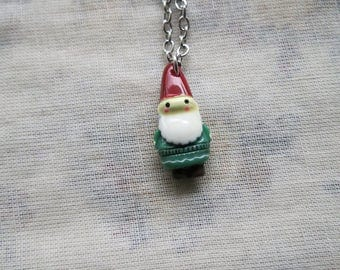 teeny tiny mr gnome necklace