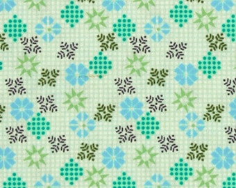 Cotton Fabric By the Yard Teal and Green  Impressions: Seminole - Jadeite from Ty Pennington Fabrics
