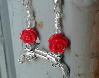 Guns and Roses (War and Peace) Earrings
