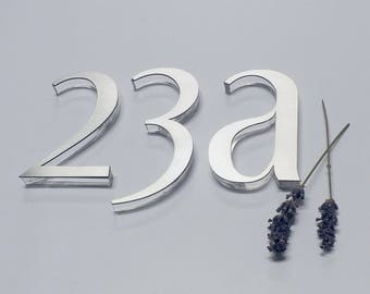 Modern door numbers house letters