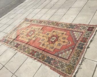 Oushak rug,desing rug,area rug,Persian rug,carpets,aztec rug,turkish rug,vintage rug,bohemion rug, rustic rug,rugs,floor rug,128x246/4'1x8'0