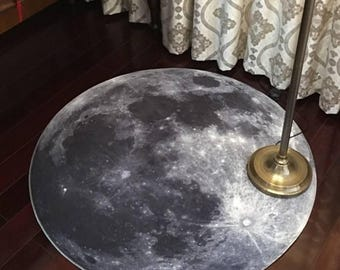 Galaxy Moon Door Mat Rug