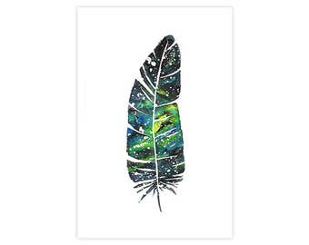 "Fine art print - ""Galaxy Feather"""