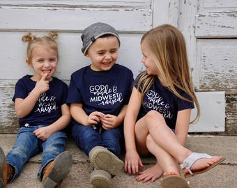 God Made & Midwest Raised Toddler T-Shirt / Gifts for Kids / Kids T-Shirts / Matching Mom and Kid T-Shirts / Toddler T-Shirt / Graphic Shirt