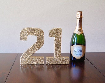 21 stand up numbers gold double sided glitter number 21st birthday decorations 21st birthday photo prop ships in 3 5 business days