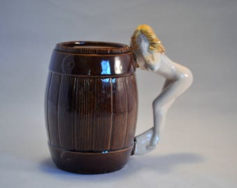 Naked Woman Over A Barrel