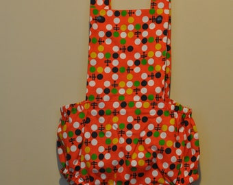 frankie and mo original romper with bib - planes - size 1