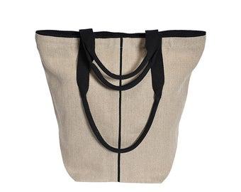 Shopper BOER #9, natural flax