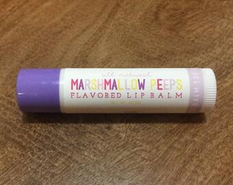 MARSHMALLOW PEEPS Lip Balm - All Natural - Homemade