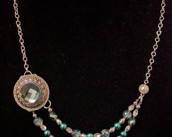 Aqua Royale: 2 Strand Necklace, Bracelet and Earring Set