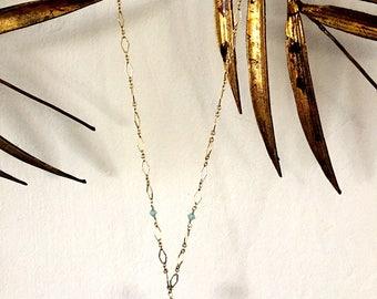 Pink Topaz Necklace with Swarovski Crystals