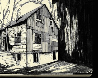 Abandoned house illustration