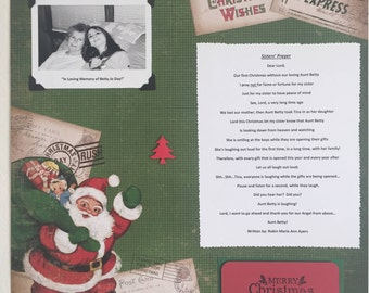 Christmas Prayer for a lost one 12 x 12 Premade Single Layout