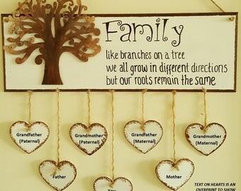 Hanging Family Tree 3 generations