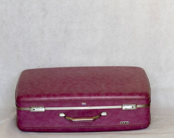 Vintage Purple Suitcase