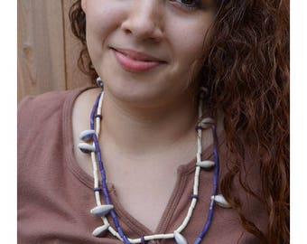 Wampum-and-Cowrie Necklaces