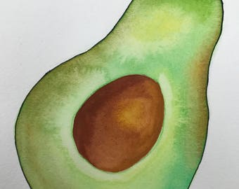 Watercolor Avocado Print