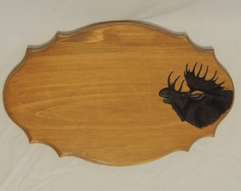 Plate address with Moose pattern