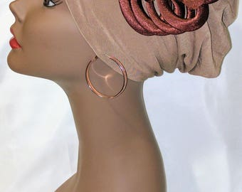 Cap With Bow (Brown)