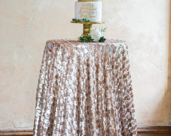 Champagne Sequin Tablecloth | Sequin Table Linen | Sequin Tablecloths | Sequin Table Runner | Sequin Wedding Decor | Sequin Table Cover