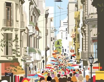 Buenos Aires poster – San Telmo