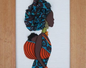 Picture of African woman with baby