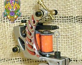 Hand Built Predator Tattoo Machine Shader 6 layer 1.25 Tattoo coils