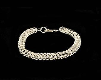 Sterling Silver, Handmade Half Persian Bracelet